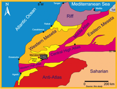 Geological outline of the Kingdom of Morocco